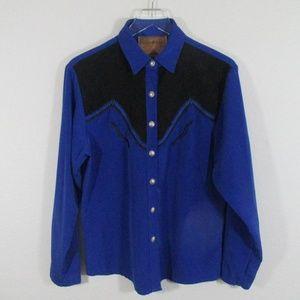 Vintage | Western Indie Boho Arrow Motif Shirt Top